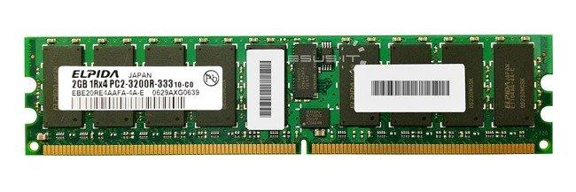 Memory RAM 1x 2GB ELPIDA ECC REGISTERED DDR2  400MHz PC2-3200 RDIMM   EBE20RE4AAFA-4A-E