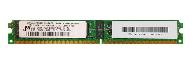 Memory RAM 1x 2GB Micron ECC REGISTERED DDR2  667MHz PC2-5300 RDIMM   MT18HVF25672PY-667E1