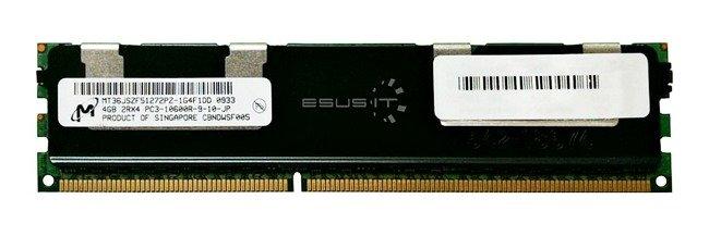 Memory RAM 1x 4GB Micron ECC REGISTERED DDR3  1333MHz PC3-10600 RDIMM   MT36JSZF51272PZ-1G4