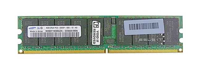 Memory RAM 1x 8GB Samsung ECC REGISTERED DDR2  667MHz PC2-5300 RDIMM   M393T1K66AZA-CE6Q0