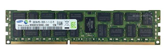Memory RAM 1x 8GB Samsung ECC REGISTERED DDR3  1600MHz PC3-12800 RDIMM | M393B1K70DH0-CK0